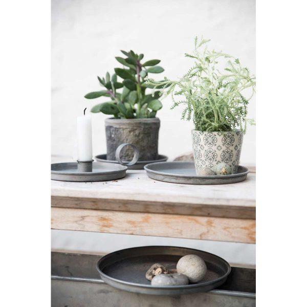 tray candle padėkliukas zinc metalinis augalui gėlės ir manufaktūra iblaursen 5715 5935