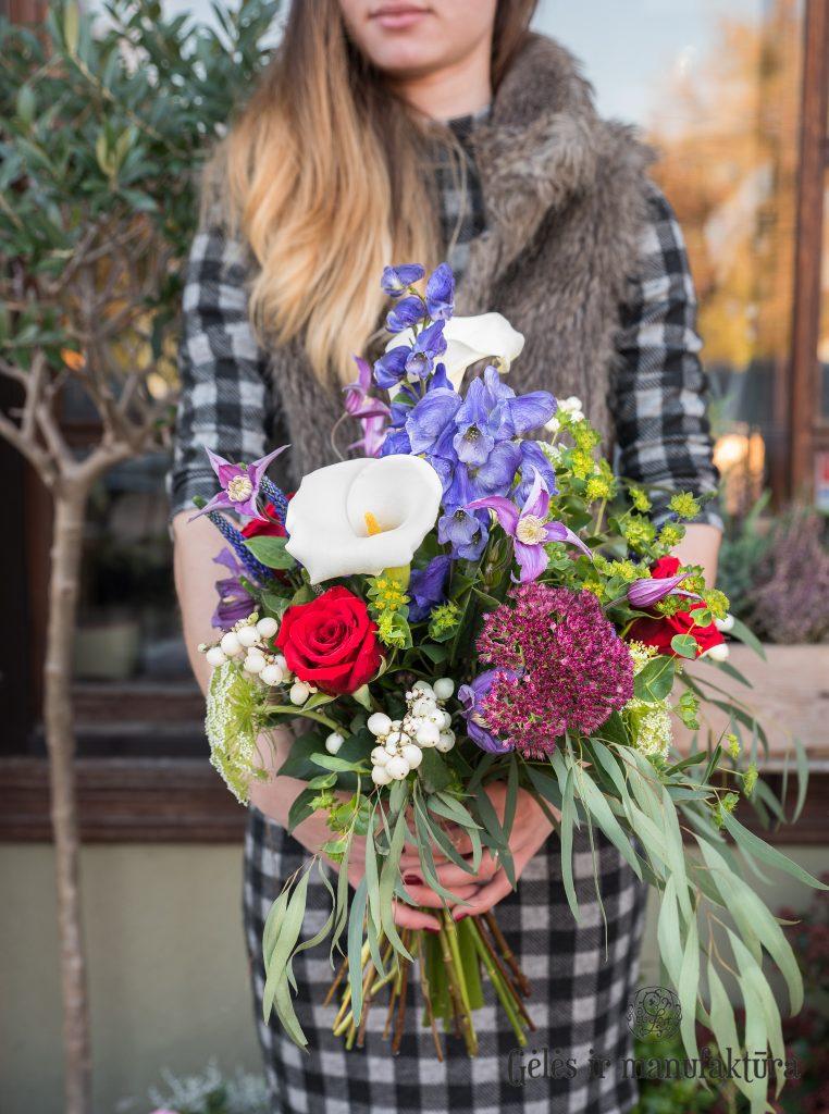Gėlės manufakt