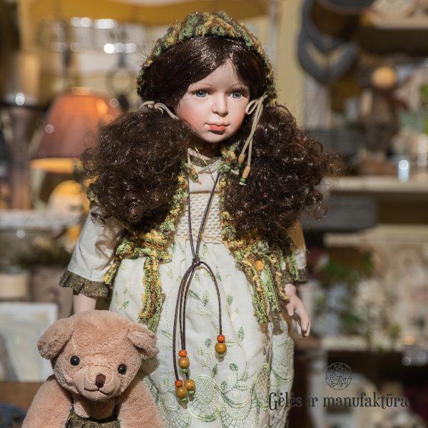 porcelain dolls porcelianinė lėlė rankų darbo gėlės ir manufaktūra rf collection handmade
