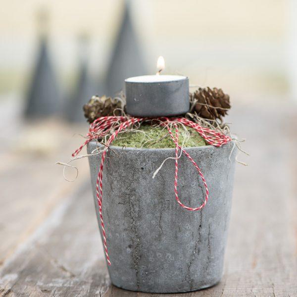 christmas žvakidė žvakė candles holder zinc pilka kalėdinė kaledos kalėdinis gėlės ir manufaktūra iblaursen 5882-18