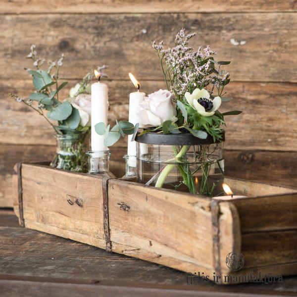 brick mould doublele unique medinis lovelis vazonas dėžė vintage wooden gėlės ir manufaktūra iblaursen 2344-00 unika