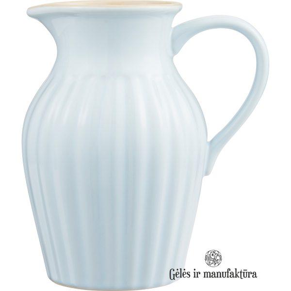 mynte mug stillwater pitcher gėlės ir manufaktūra žydras asotis