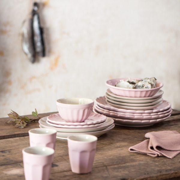 ceramic geles ir manufaktura Mynte english rose ibLaursen indai bowl soup plate lėkštė