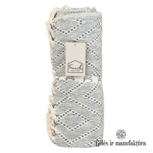 pledas ornamentas medvilninis THROW BLUE 301644-TT pledas FANNI K