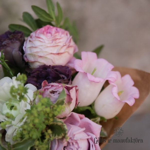 bouquet violet flowers gėlės ir manufaktūra purple puokštė