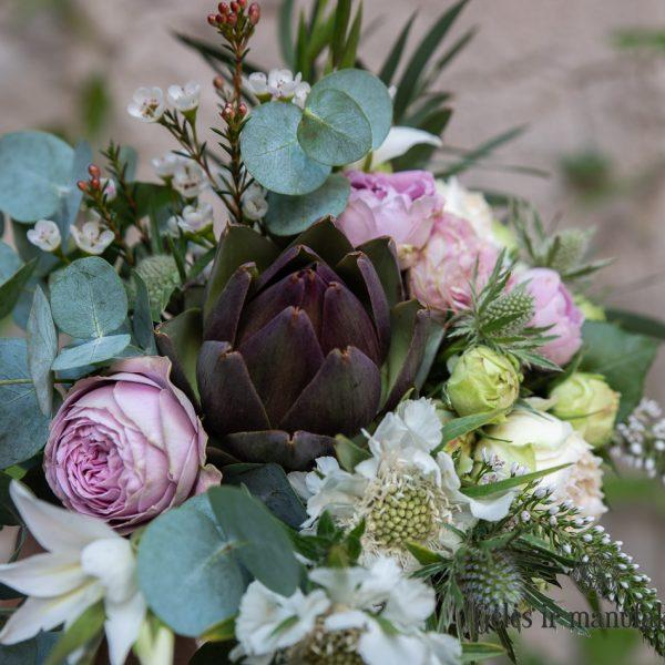 cynara artichoke artišokas bridal bouquet nuotakos puokštė geles