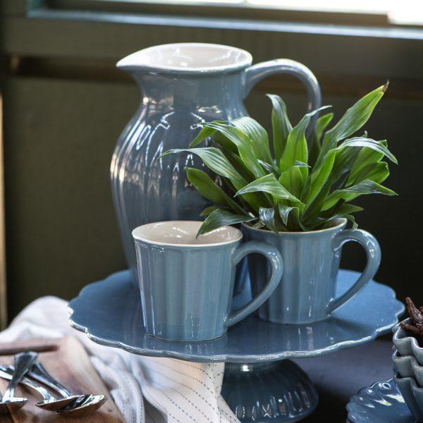 plate mynte kitchen cornflower blue 2094-09 iblaursen gėlės ir manufaktūra 2077-09 2041-09 pitcher asotis mug cup