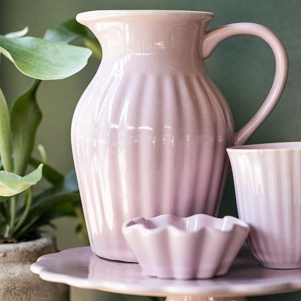 asotis pitcher english rose pink mynte gėlės ir manufaktūra iblaursen 2077-07