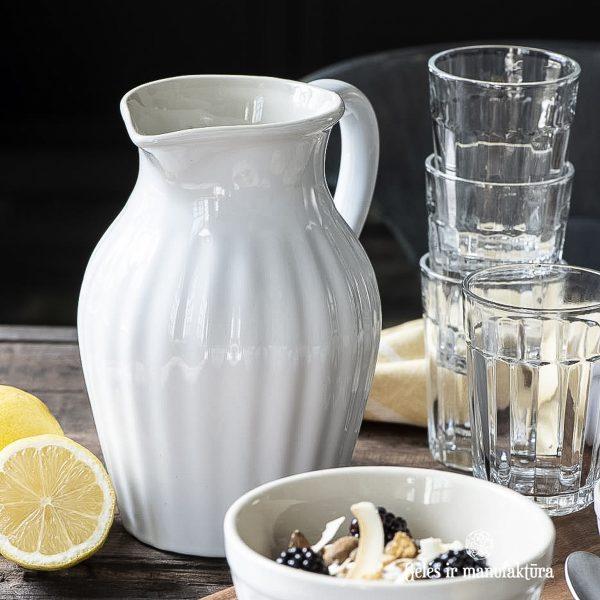 asotis pitcher musli bowl dubenėlis baltas pure white mynte 2078-11 iblaursen gėlės ir manufaktūra