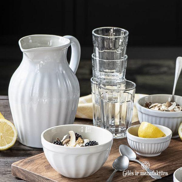 asotis pitcher musli bowl dubenėlis baltas pure white mynte 2077-11 iblaursen gėlės ir manufaktūra