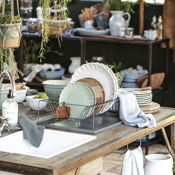 lėkštė green tea gėlės ir manufaktūra mynte plate tableware iblaursen 2094-10