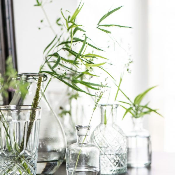 vaza vazelė glass gėlės ir manufaktūra iblaursen vases 0200-00 flowershop