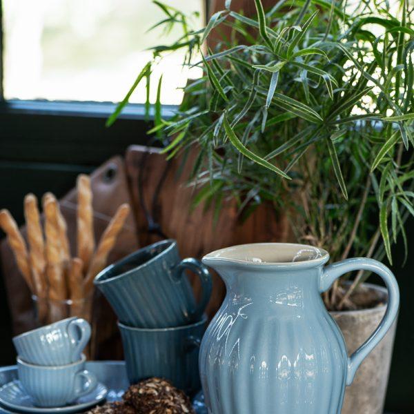 ąsotis mėlynas nordic sky mynte pitcher 2077-13 iblaursen gėlės ir manufaktūra