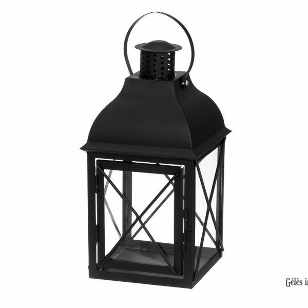 žibintas žvakidė lantern metalinis juodas gėlės ir manufaktūra 116328 TT
