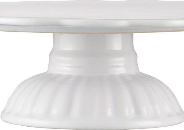 tortinė plate on foot mynte pure white balta keramikinė gėlės ir manufaktūra iblaursen