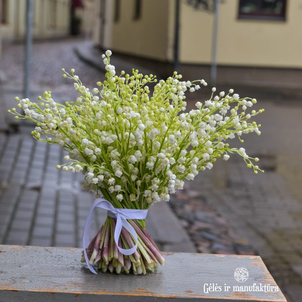 convallaria lily of valley pakalnutės bridal bouquet nuotakos puokštė flowers gėlės vilniuje skintos