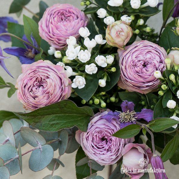 bouquet flowers puokštė violet lavender gėlės ir manufaktūra