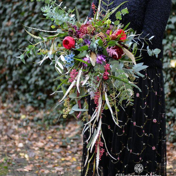 bridal bouquet nuotakos puokštė red natural wedding gėlės ir manufaktūra schinus molle