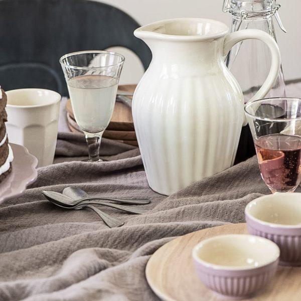 geles ir manufaktura mynte keramika butter cream iblaursen puodelis mug pitcher asotis 2077-82