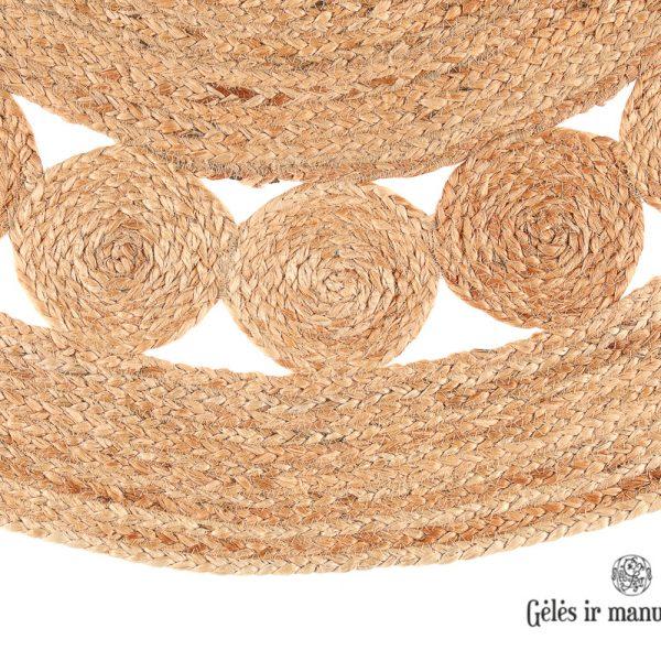 carpet matto rug kilimas apvalus Fanni K Jute Rug Tiuku 100cm round Natural gėlės ir manufaktūra 321398 TT