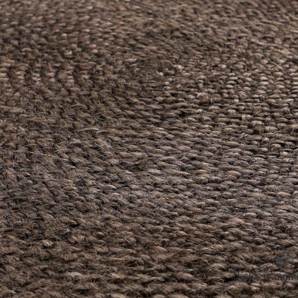 carpet matto rug kilimas jute rudas džiuto brown kastanja apvalus round 320325 TT juutti matta fanni k