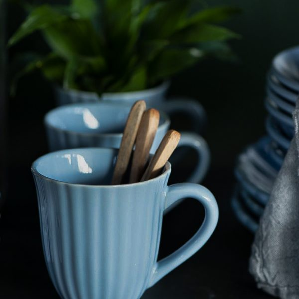mug puodelis blue mėlynas nordic sky mynte cup 2088-13 iblaursen gėlės ir manufaktūra