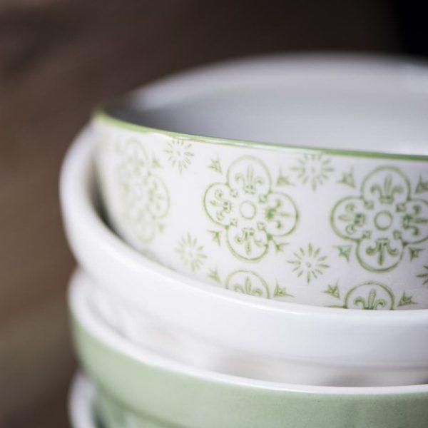musli bowl dubenėlis žalsvas žalios arbatos green tea mynte cup plate 2078-10 iblaursen gėlės ir manufaktūra