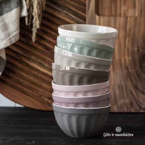 bowl musli dubenėlis javainiams mynte dark grey granite pilkos spalvos gėlės ir manufaktūra