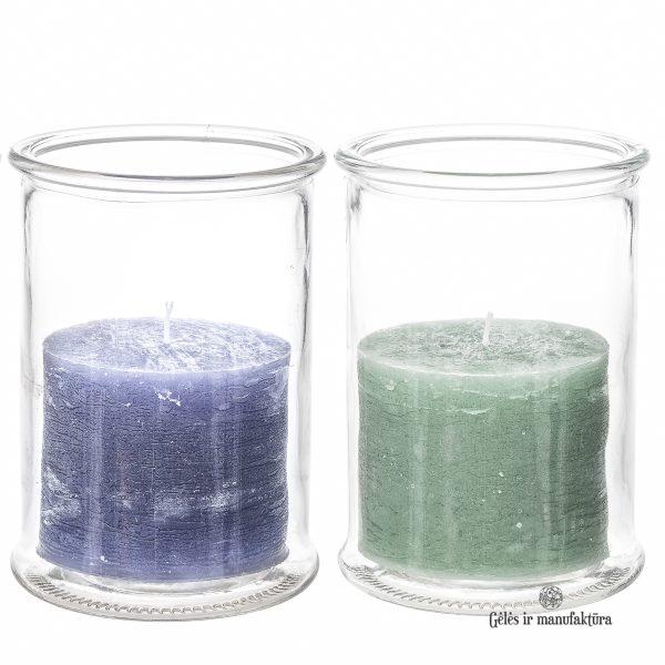 žvakidė vaza candleholder glass candle rustic gėlės ir manufaktūra TT 309976