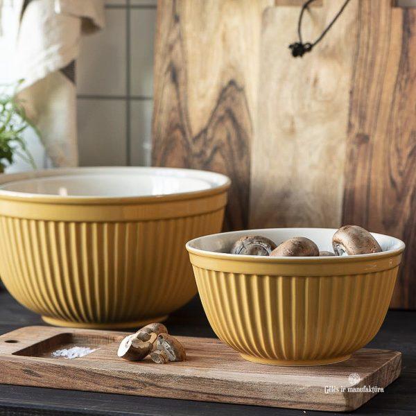 bowl set mustard yellow mynte dubuo dubenėlis garstyčiių spalvos gėlės ir manufaktūra iblaursen 2074-03