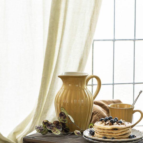 mug cup pitcher mustard yellow mynte puodelis ąsotis pitcher plate geltona garstyčiių spalvos gėlės ir manufaktūra iblaursen 2088-03
