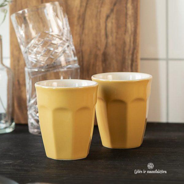 mug cup mustard yellow mynte puodelis geltonas garstyčių spalvos gėlės ir manufaktūra iblaursen 2042-03