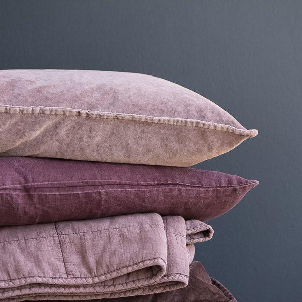 cushion malva vintage velvet gėlės ir manufaktūra iblaursen 6230-52