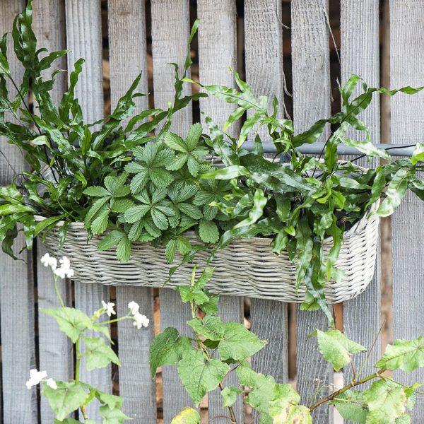 vazonas augalai kambarinis pintas krepšys vazonai lovelis vytelių gėlės ir manufaktūra iblaursen plants pots willow tray basket 2938-00