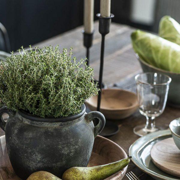 vazonas pots ceramic wooden indas handmade keramika vaza rustic gėlės ir manufaktūra 1307-00 iblaursen kambariniai augalai