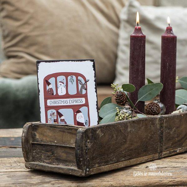 christmas santa survival kit metal sign mistletoe kalėdinė metalinė lentelė kaledos kalėdinis express gėlės ir manufaktūra iblaursen 70080-00