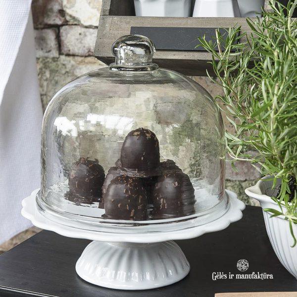 glass cover tortinė stiklinis gaubtas gaubtelis gėlės ir manufaktūra iblaursen 0227-00