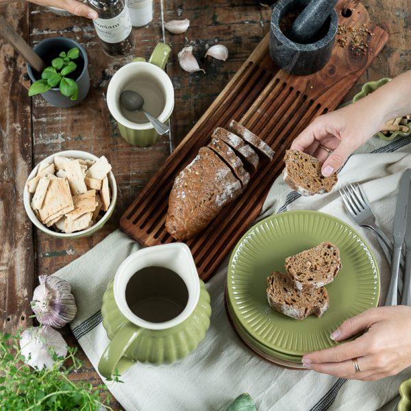 bowl set dubuo dubenys mynte herbal green ceramics žali salotiniai gėlės ir manufaktūra keramikiniai indai