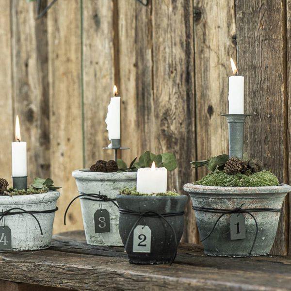 hristmas candle holder spear zinc laikiklis žvakei žvakidė smeigiama kaledos kalėdinis gėlės ir manufaktūra iblaursen 57005-18