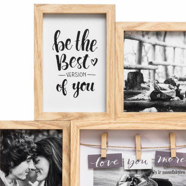 COLLAGE wall picture paveikslas frame wooden photo rėmelis foto nuotraukai medinis gėlės ir manufaktūra 298733 TT