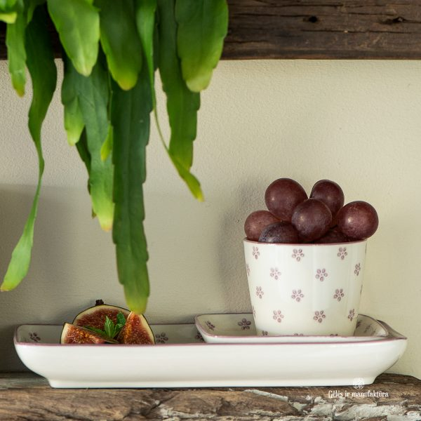mug cup plate mini casablanca bloom flowers malva puodelis lėkštelė su gėlytėmis gėlės ir manufaktūra iblaursen