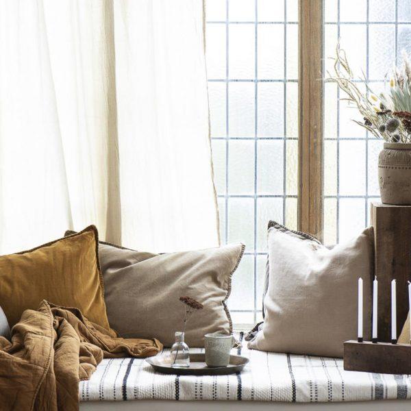 cushion cover pagalvės pagalvėlės užvalkaliukas garstyčių geltonos flowers spalvos mustard gėlės ir manufaktūra 6230-03 iblaursen užvalkalas