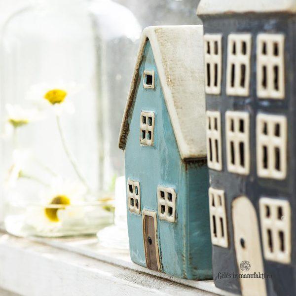 žvakide keramikinė namukas namelis ranku darbo keramika candleholder house ceramic Gėlės ir manufaktūra 2760-34 iblaursen