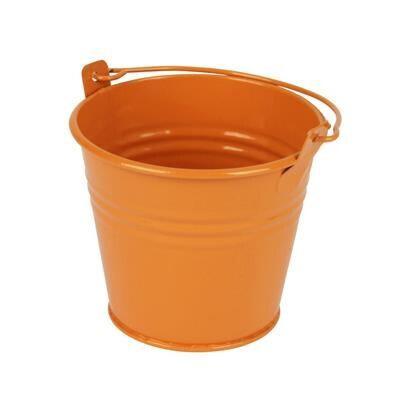 kibirėlis kibiriukas vazonėlis zinc bucket emmer metalinis oranžinis orange 10