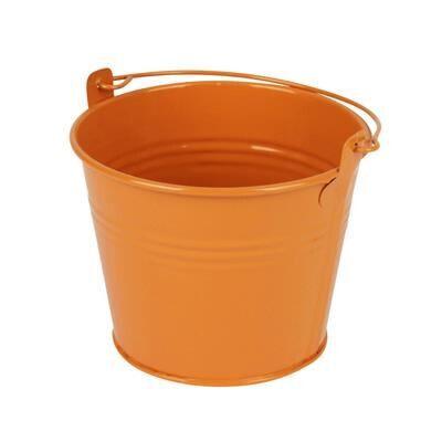 kibirėlis kibiriukas vazonas zinc bucket emmer metalinis oranžinis orange