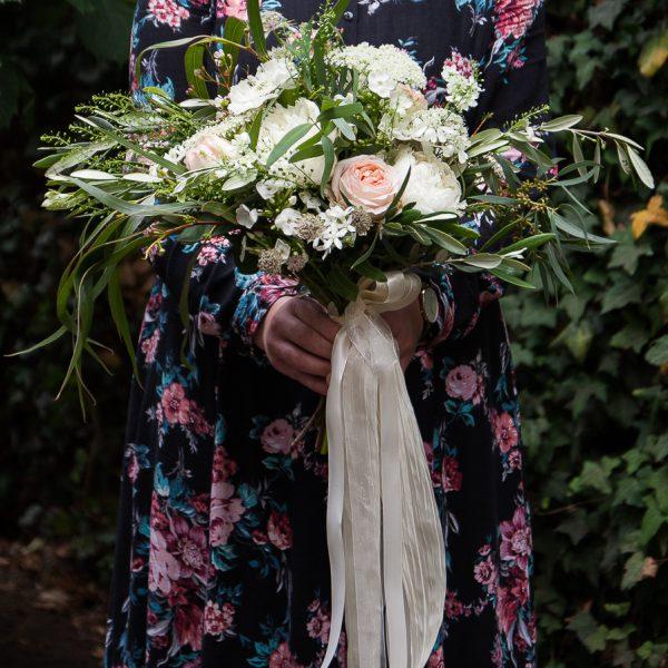 puokštė vestuvinė nuotakos nuotakai Gėlės ir manufaktūra vestuvės bridal bouquet eukaliptas pievų lauko
