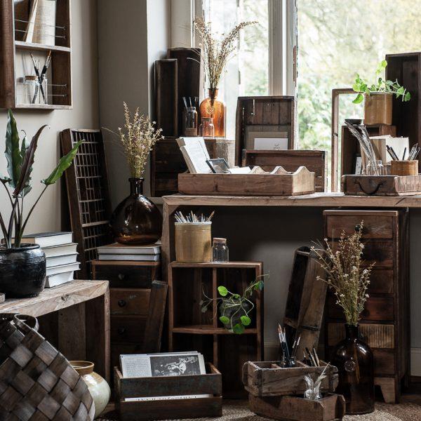 brick mould single unique medinis lovelis vazonas dėžė vintage wooden gėlės ir manufaktūra iblaursen 2344-00 unika