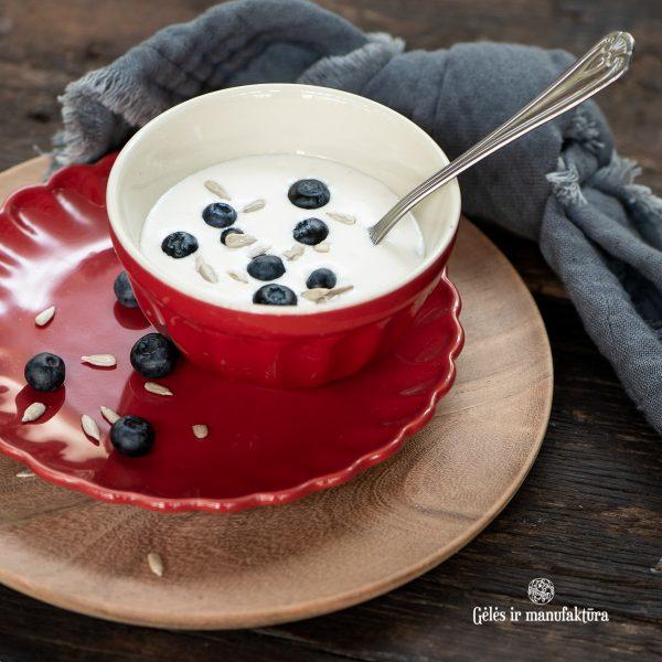 dubenėlis musli bowl mynte strawberry red raudonas raudonos spalvos gėlės ir manufaktūra braškių
