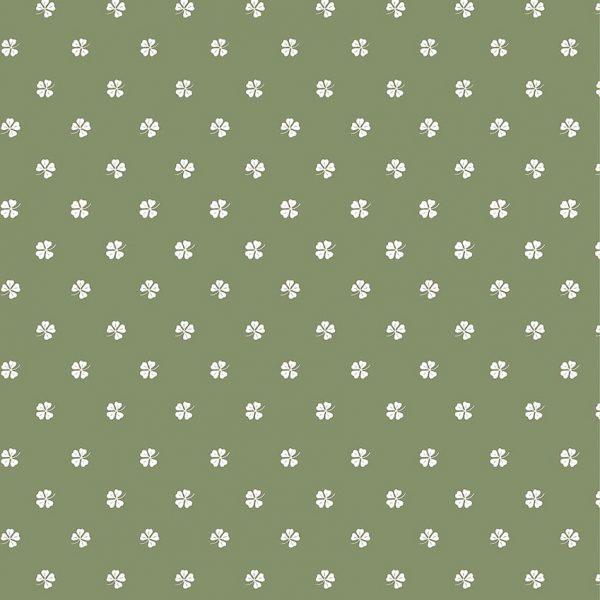 wrapping gift paper dovanu pakavimo popierius dobilas keturlapis clover green žalias lapeliai gėlės ir manufaktūra