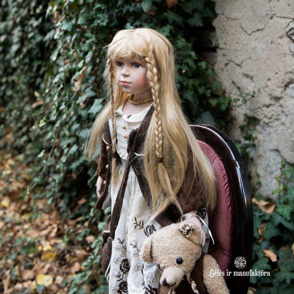 porcelianinė rankų darbo vardinė kolekcinė lėlė adele's puppenhaus gėlės ir manufaktūra porcelain doll